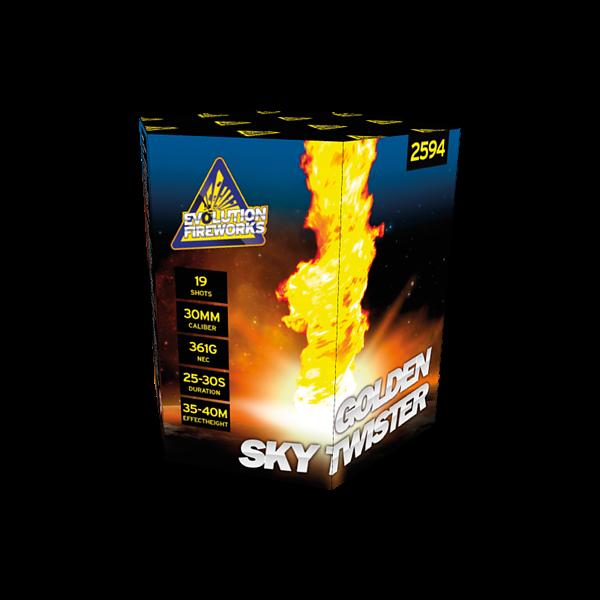 Golden Sky Twister - evolution-fireworks
